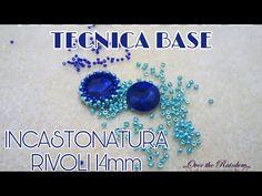Video Tutorial - Tecnica Base - Incastonatura Peyote rivoli 14mm - YouTube Jewelry Making Tutorials, Beading Tutorials, Tatting Jewelry, Beaded Jewelry, Beaded Cross, Pearl Beads, Diy And Crafts, Jewelery, Basel