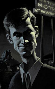 "Anthony Perkins in ""Psycho"" (by Blake Loosli)"