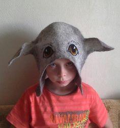 """Купить Шапка для бани """"я - собакин"""". - серый, шапка для бани, банная шапка, собака из шерсти"""