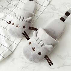 Whether you're searching for unique gifts or cozy slippers that can slide on and off in a jiffy, the Plush Animal Slippers are a must-have! Find more cute slippers at Apollo Box! Soft Slippers, Winter Slippers, Cute Slippers, Cat Emoji, Apollo Box, Bedroom Slippers, Pusheen Cat, Plush Animals, Cute Designs