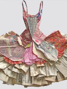 Peter Clark paper dress Arrangements An arrangement of paper , could be inspiration for GCSE question Arrangements