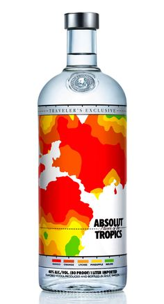 Absolut Flavour of the Tropics. The weather heat map that denotes the mix of ingredients is inspired. PD