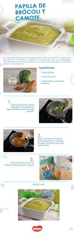 Estos ingredientes que son ricos en calcio y sabor serán el alimento perfecto para tu pequeño. Te decimos cómo preparar una deliciosa papilla de brócoli y camote. Las papillas se recomiendan para bebés mayores de 6 meses.