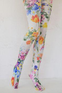Tabbisocks Bright Tulip Printed Tights
