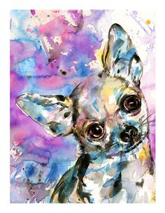 Chihuahua ... Dog art archival print from by Kathy Morton Stanion