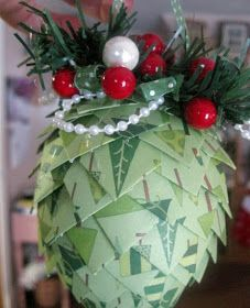 Back in November, I posted about a Paper Pinecone Ornament that I had made that would make a wonderful gift for a co-worker, neighbor, teac...