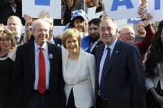 Jim Sillars (left) on the indyref campaign trail in 2014 with then First Minister Alex Salmond and Nicola Sturgeon. Picture: Andew O'Brien