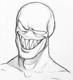 Creepy Drawings, Dark Art Drawings, Pencil Art Drawings, Art Drawings Sketches, Cool Drawings, Horror Drawing, Graffiti Drawing, Horror Art, Graffiti Art