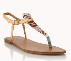 Tribal style thong sandal