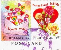 Love stamps Philippines :pair issued by PhilPost in 2009.