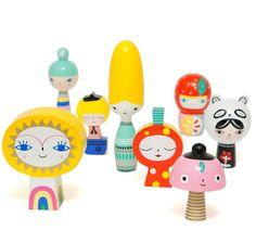 Petit Monkey / סט בובות עץ ״מר שמש וחברים״