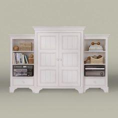 Furniture, white, bookcase, armoire, cottage, coastal