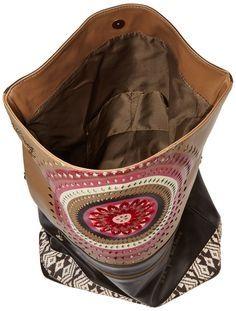 Desigual Brown Flap Bag