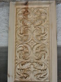 Image may contain: indoor Wooden Door Design, Wooden Doors, Wood Design, Wood Art Panels, Panel Art, Lord Shiva Family, Cnc Woodworking, Wood Carving Designs, Acanthus