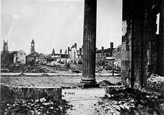 Charleston after over 500 days of continuous bombardment in the Civil War