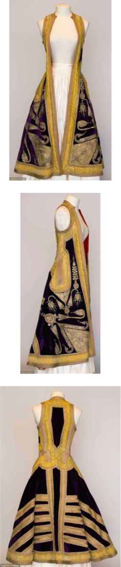 WOMAN'S GOLD EMBROIDERED COAT, ALBANIA, c. 1900. Albania was a part of the Ottoman Empire until 1912.