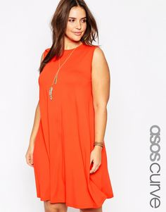 ASOS CURVE Sleeveless Swing Dress