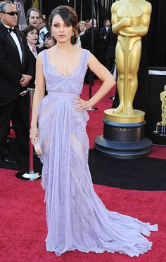 Mila Kunis in Elie Saab at the 2011 Oscars