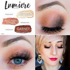 ShadowSense eyeshadow trio with Sandstone Pearl Shimmer, Rose Gold Shimmer and Garnet. Love this look FB: @AZGlamGirl Insta: @AZGlamGirl #shadowsense #eyeshadow #makeuptutorial #rosegold