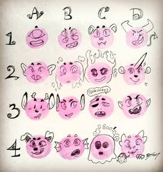 Draw Facial Expression i'm you guys making monster ocs! comment below a number and letter, and i'll make you a monster person! i'll be taking as many requests as possible Drawing Meme, Drawing Prompt, Drawing Poses, Drawing Tips, Drawing Challenge, Art Challenge, Art Reference Poses, Drawing Reference, Oc Drawings