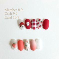 Soft Nails, Simple Nails, Gel Nails, Nail Art Designs Videos, Nail Designs, Cute Nails, Pretty Nails, Korean Nail Art, Asian Nail Art