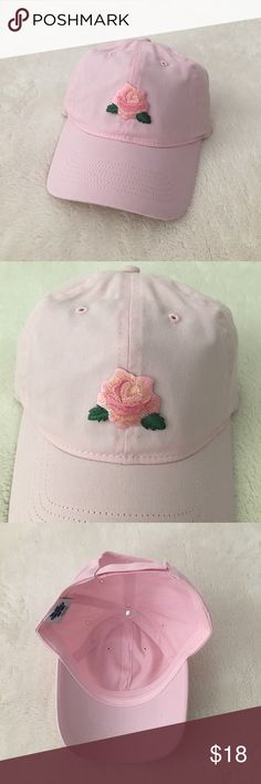 Embroidered rose patch dad hat - blush pink spring Embroidered rose dad hat in blush pink  An original design by my shop with a cute lil rose patch. 3 available! I love the metallic gold threading in this patch, adds a glitter effect to it. So good! #rose #embroidered #patch #dad #hat #cap #spring #tumblr #aesthetic Pixel Babe Accessories Hats