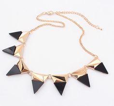 Stylish Triangular Metal Necklace