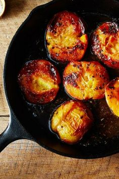 Rosemary-Roasted Peaches with Salted Caramel Sauce recipe on Sauces, Salted Caramel Sauce, Summer Fruit, Food 52, Dessert Recipes, Desserts, Food Processor Recipes, Cooking Recipes, Peaches