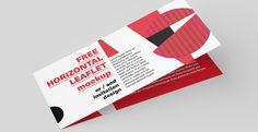 Mockup / Ulotka DL składana poziomo /  Horizontal DL Leaflet