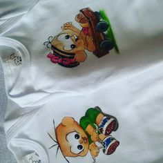 Body infantil personalizados Body, Onesies, Snoopy, Character, Diapers, Painting On Fabric, Dibujo, Custom T Shirts, Paintings
