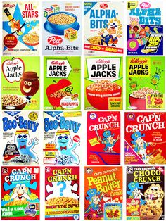 Vintage Cereal Collection - The Dieline - The #1 Package Design Website -