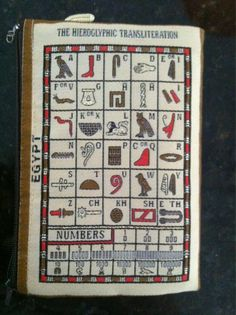 Egyptian glyphs via @fluffygrfam