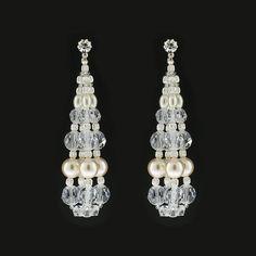 Swarovski Pearl & Crystal Bauble Earrings | Giavan