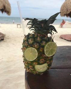 Pineapple Cocktail, Cancun, Mexico