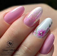 Nail Art Designs Videos, Fingernail Designs, Best Nail Art Designs, Toe Nail Designs, Fancy Nails, Cute Nails, Pretty Nails, Elegant Nail Designs, Elegant Nails