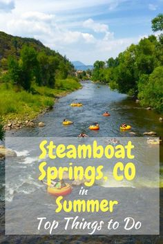 Steamboat Springs, Colorado in the summer is an equally amazing time to visit as much as it is in the winter. Think water tubing, hiking, hot springs, to name a few. Here are top things to do in Steamboat in the summer. It's one of our favorite places for family travel with the kids.