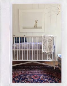Great nursery. Unisex, calming, beautiful -- and not a primary color or kiddie themed fabric in sight!