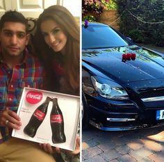 Faryal M Khan & Amir khan Faryal Makhdoom Khan, Beautiful Couple, Boxer, Hair Beauty, Couples, Couple, Boxer Pants, Cute Hair