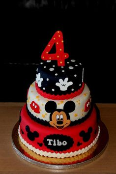 Mickey Mouse cake Use color sheet and icing, freeze for Mickey's Face, and a #1 for a First Birthday!!!