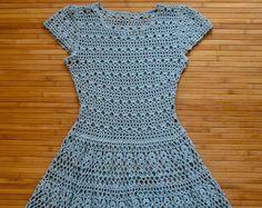 Crochet dress PATTERN Boho crochet dress PATTERN CHART and