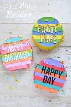 These DIY Mini Pinata's are SO fun to put together and they are so easy! All the work is done for you, you just have to have fun putting them together.