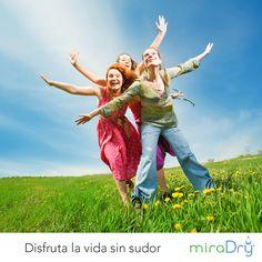 Libérate del sudor axilar excesivo con nuestro tratamiento #StayDry #RiseYourHands #Happy #Nature #Family
