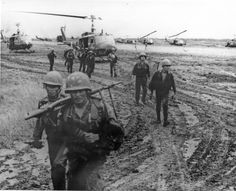 Members of the 41st Vietnamese Ranger Battalion disembark from UH-1helicopters of the 13th Combat Aviation Battalion.  -U.S. Army Aviation Museum Volunteer Archivists Collection, TTU