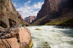White water rafting down the Grand Canyon