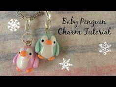 TUTORIAL: Polymer Clay Kawaii Baby Penguin Charm - YouTube