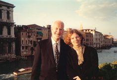 Carey Lovelace and her father Jon Lovelace in Venice.