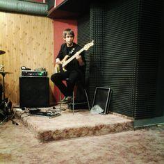 Wojtek at his bass