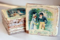 Pride and Prejudice Marble Coasters (lots of awesome Jane Austen things at this link)