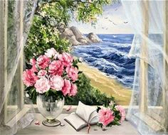 Coloring By Numbers On Canvas Hand Painted Canvas Oil Paintings Modular Landscape Pictures Home Decor Wall Art Flowers Hand Painted Canvas, Canvas Wall Art, Oil Painting On Canvas, Diy Painting, Painting Flowers, Landscape Pictures, Home Decor Wall Art, Room Decor, Watercolor Artwork