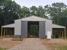 horse barn with leans off each side. Leans are extra tall to park the trailer under and the barn is tall enough for a hay loft to be added eventually. Hay Barn, Barn Wood, Small Horse Barns, Hay Loft, Horse Barn Plans, Horse Fencing, Lean To, Dream Barn, Reptile Cage